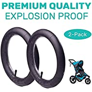 12.5'' x 1.75/2.15 Front Wheel Replacement Inner Tubes (2-Pack) for Graco Click/Go Jogging and BoB Revolution SE/Pro/Flex/SU/Ironman - Made from BPA/Latex Free Premium Quality Butyl Rubber
