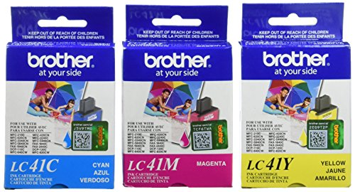 Brother Mfc 5440cn Printer - BROTHER LC41CL3PKS 3 Ink Pack