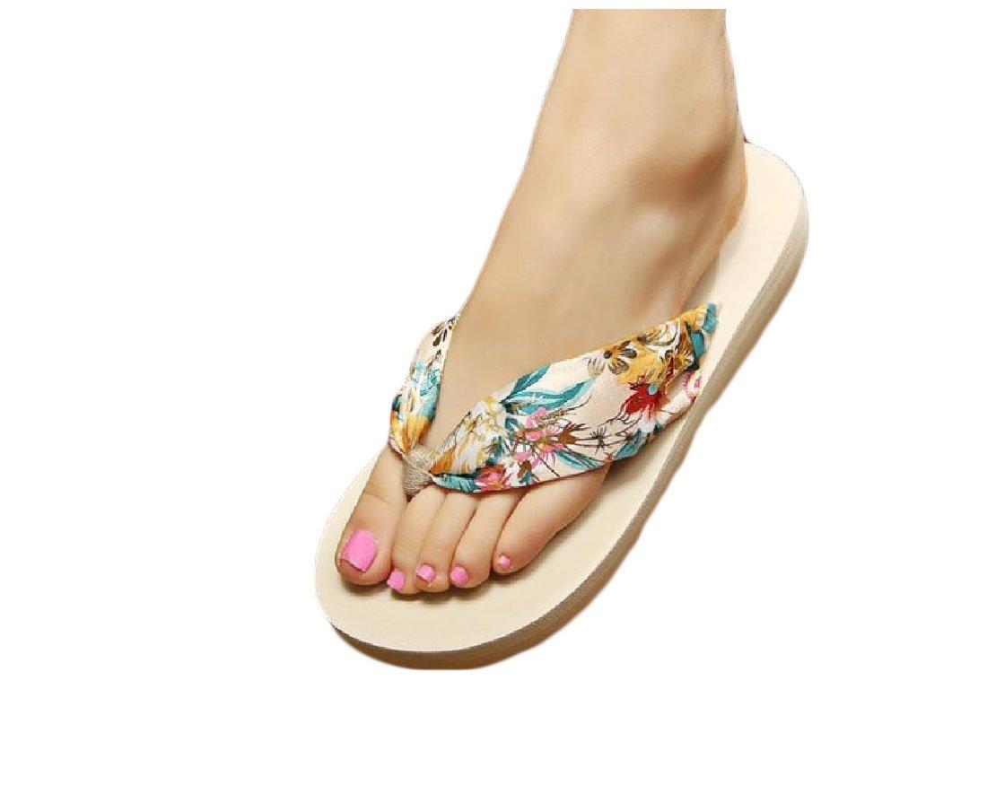 Abetteric Women Bechwear Slippers Flip-Flops Cozy Bohemian Sandals Slides 1 5.5B(M)