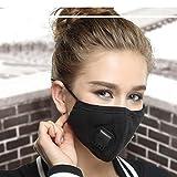 ZWZCYZ Unisex Cotton Breath Valve Mouth Mask