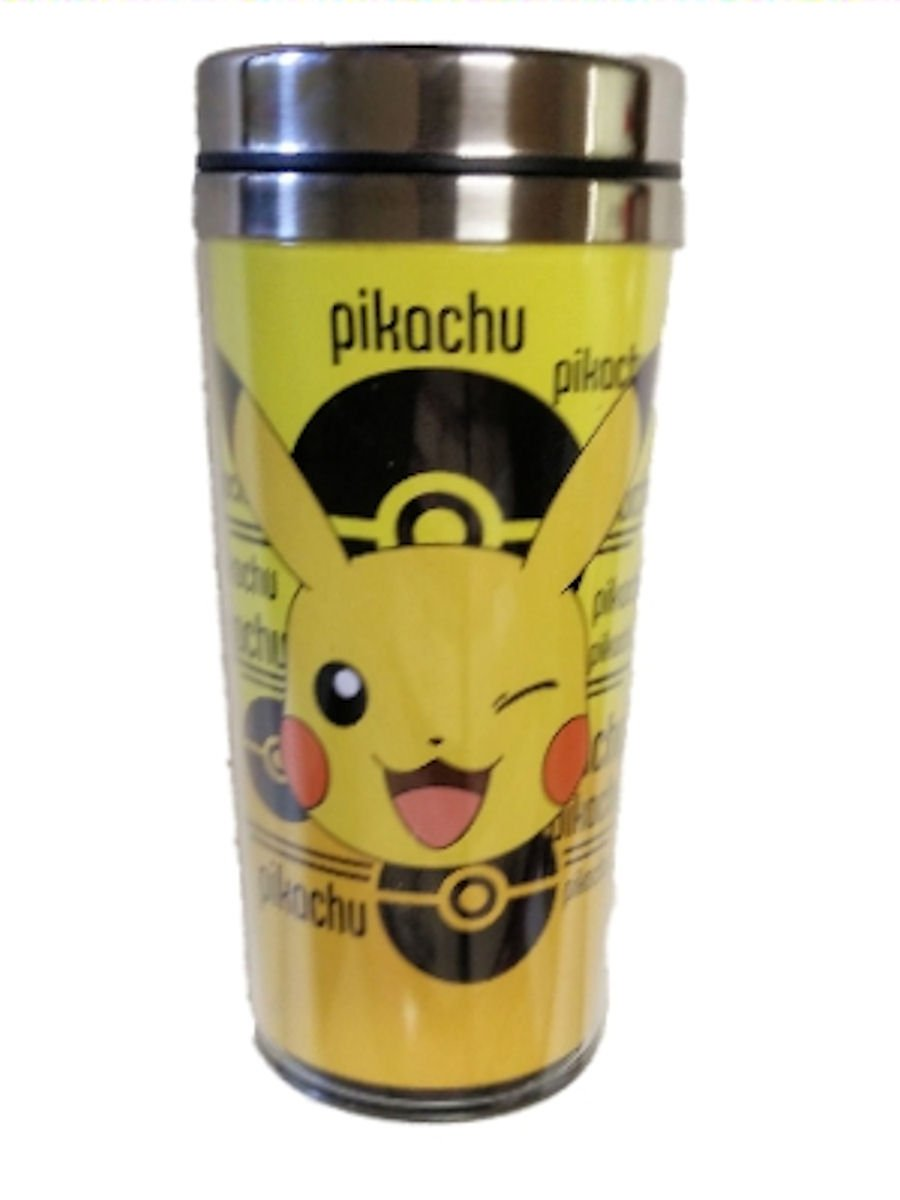 df29dd131b8 Amazon.com: Pokemon Pikachu Travel Mug With Stainless Steel Lid: Kitchen &  Dining