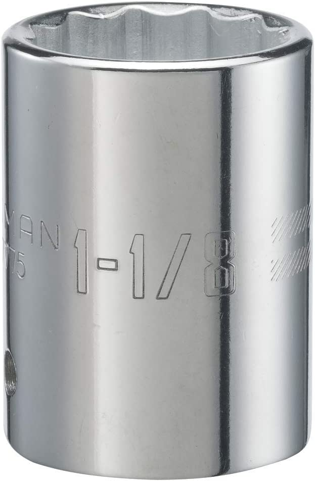 1-13//16-Inch 12-Point 3//4-Inch Drive SAE CRAFTSMAN Shallow Socket CMMT19645