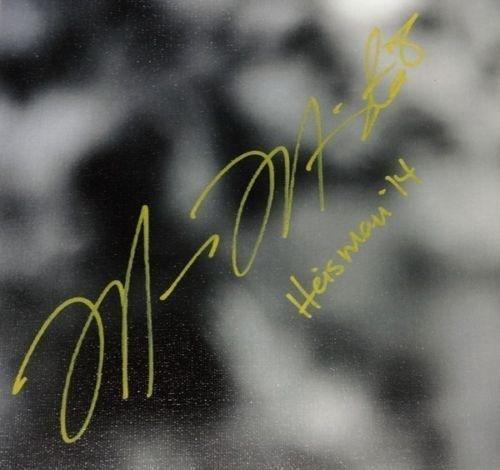 Marcus Mariota Autographed Signed Framed 20x24 Canvas Photo Oregon #/8 Mm 91864 Autographed College Art