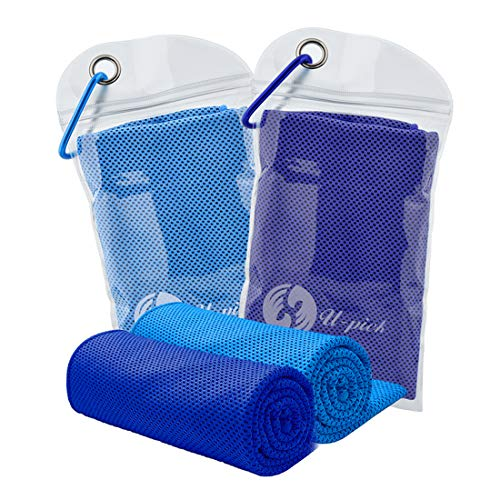 U-pick Cooling Towel,Cool Towel Cooling Towels Stay Cool Towel Cooling Towels for Neck Towel Set for Yoga Sport Gym Camping Travel [2-4 Pack] (40