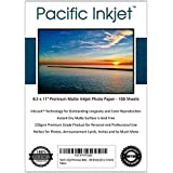 Pacific Inkjet - Premium Matte Inkjet Photo Paper - 100 Sheets 230sm 8.5mil (8.5-x-11-inch)