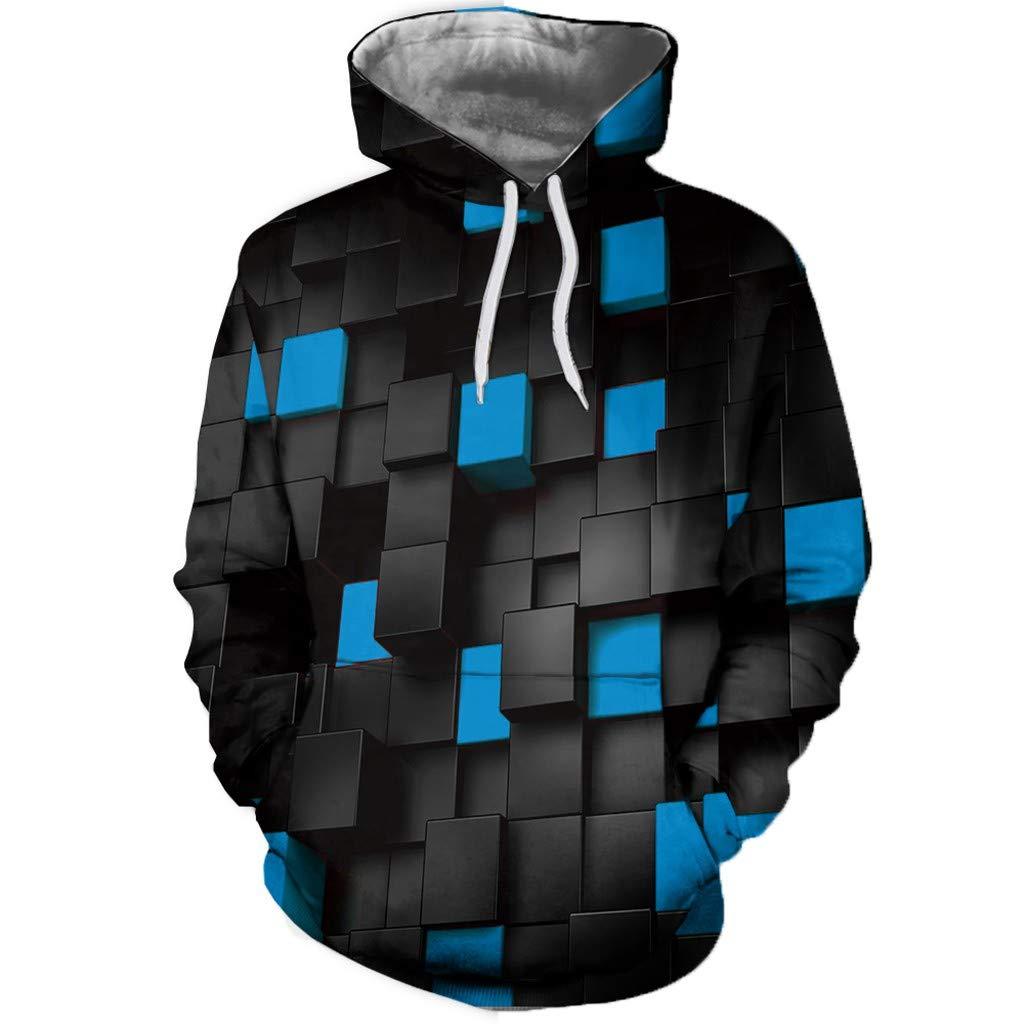 AcisuHu Newest Unisex Novelty Hoodies 3D Digital Print-Dimension Space Sweatshirt Pullover Hoodie for Autumn Winter
