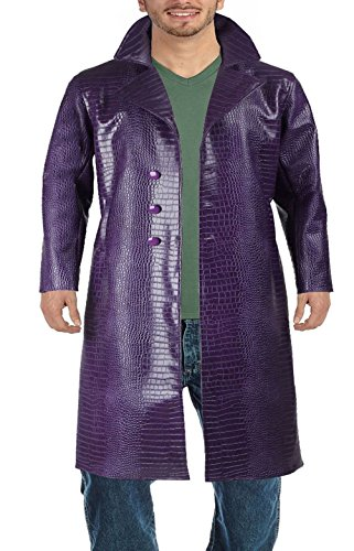 Suicide Squad Jared Leto Joker Leather Coat (2XL, Purple)