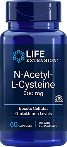Life Extension N-Acetyl Cysteine 600 mg 60 Veg Caps 2 Pack