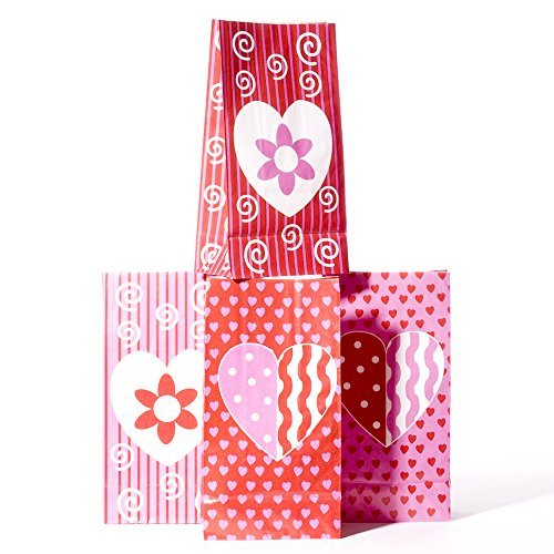 Valentine Paper Goody Bags by Century Novelty -