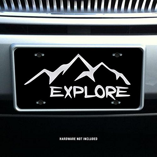 Explore Wanderlust Vanity Front License Plate Tag KCE027 KCD