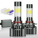 headlight bulbs 9012 - Zdatt 12000LM 9012 LED HeadLight Bulbs Conversion Kit 100W Full Lights High Beam 360 Degree Lighting for Car Lamp Replacement-Amber(3000K)/White(6000K)/Light-Blue(8000K)-2 Year Warranty