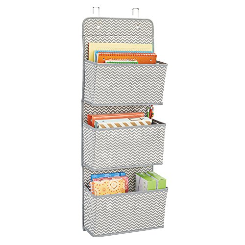 Cheap  mDesign Over the Door Fabric Office Supplies Storage Organizer for Notebooks, Planners,..