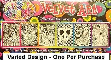 Lisa Frank Velvet Coloring Sheet Art Kit and Markers - Varied Images