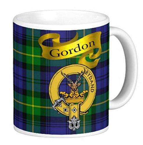 Scottish Clan Gordon on 11 Oz. Ceramic Coffee Mug Clan Crest on Both Sides