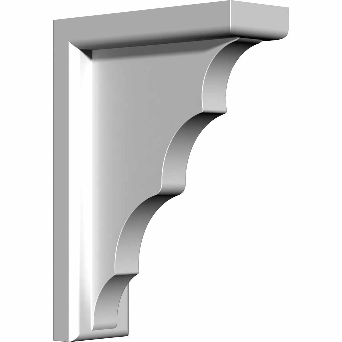 Factory Primed and Ready for Paint Ekena Millwork BKT03X07X10TR-CASE-4 Traditional Bracket