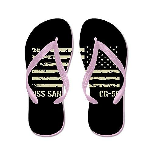 Cafepress Uss San Jacinto-- Flip Flops, Roliga Rem Sandaler, Strand Sandaler Rosa