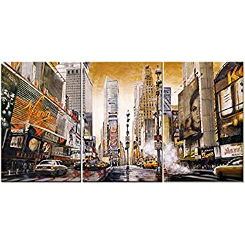 3 Pieces Modern Canvas Painting Wall Art The Picture For Home Decoration  Retro Time Square Manhattan Part 98