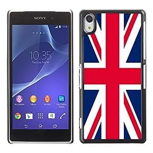 - Flag - - Monedero pared Design Premium cuero del tir¨®n magn¨¦tico delgado del caso de la cubierta pata de ca FOR Sony Xperia Z2 L50t L50W L50U Funny House