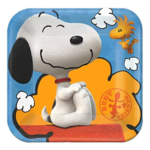 Snoopy Costume Ideas (American Greetings Peanuts Square Plate (8 Count),)