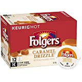 Folgers Caramel Drizzle Flavored Coffee, K-Cup Pods for Keurig K-Cup Brewers, 12-Count (Pack of 6)