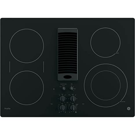 cooktop with vent. GE Profile 30\u0026quot; Downdraft Electric Cooktop PP9830DJBB With Vent T
