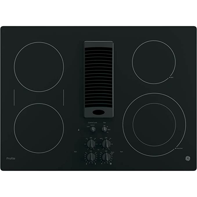 d66b6e41a06 Amazon.com  GE PP9830DJBB 30 Inch Smoothtop Electric Cooktop with 4 Burners