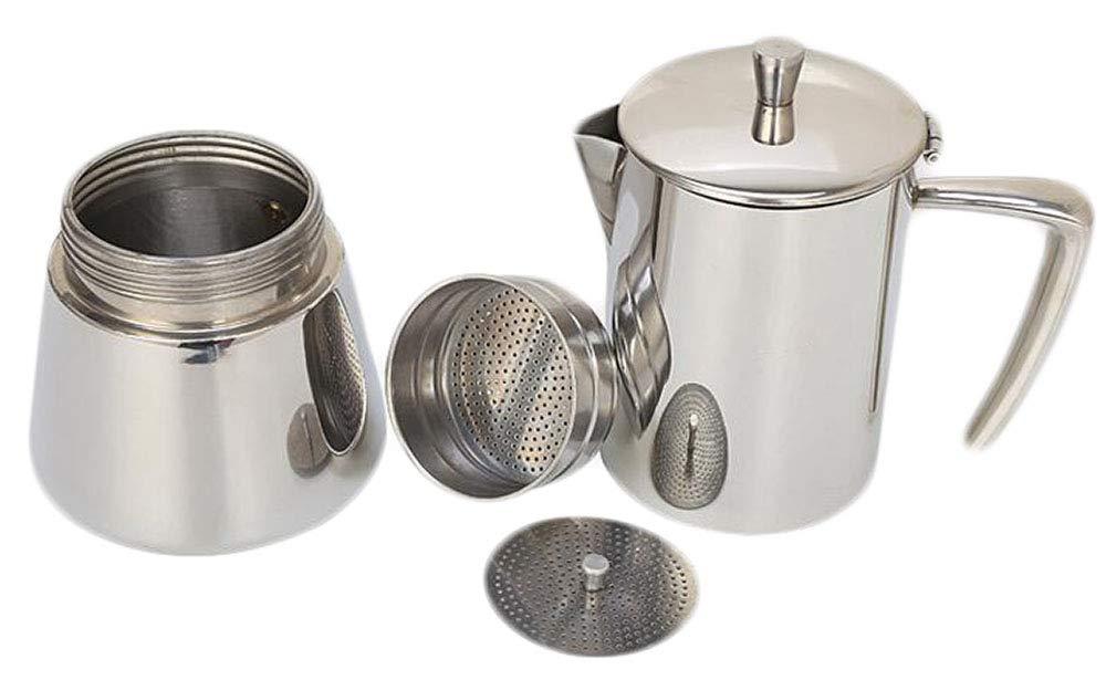 Acquisto Sodhue Caffettiera con Fondo Induzione Acciaio Inox Argento 6 Tazze 300ml Prezzi offerta