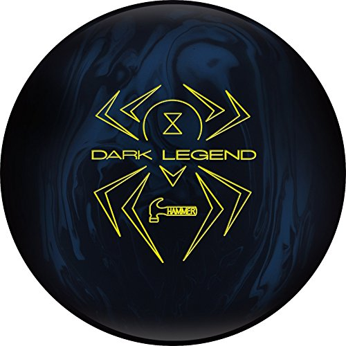 Hammer Dark Legend Solid Bowling Ball, 15 lb, Blue/Black