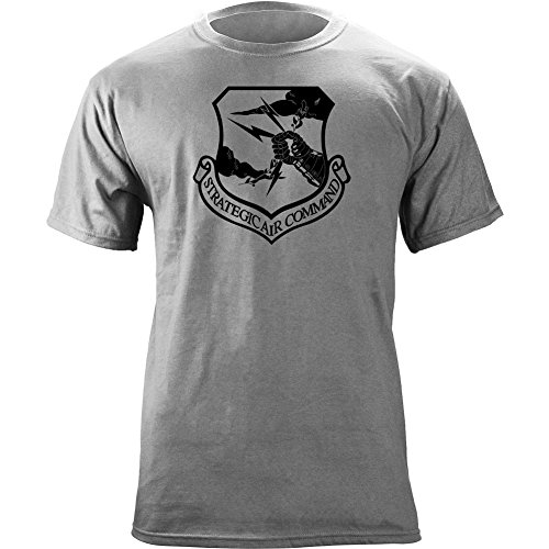 USAMM Strategic Air Command Subdued Veteran Patch T-Shirt (2X-Large, Heather Grey) (Air Mens T-shirt)