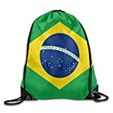 HATS NEW Gym Drawstring Brazilian Flag Unisex Drawstring Bag Simple Drawing Quick Dry Backpack Bag