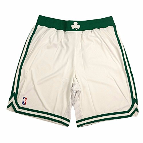 adidas Boston Celtics NBA White Authentic On-Court Climacool Team Game Shorts for Men (5XLT) ()