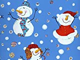 Pack of 1, Snow Big Deal 26'' x 833' Full Ream Gift Wrap (Metallized) for Holiday, Party, Kids' Birthday, Wedding & Special Occasion Packaging