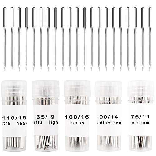 Find Cheap WXJ13 150 Pieces Sewing Machine Needles Home Sewing Machine Needles Size 9, 11, 14, 16, 1...