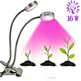 Dual Head 16W LED Grow Plant Light, Lifebee Red/Blue Adjustable Dimmable for Indoor Plants (2017 New Version) For Sale