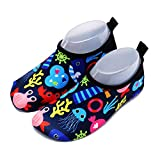 Garlagy Kids Lightweight Water Shoes Quick-Dry Aqua Socks Non-Slip Barefoot Beach Shoes for Toddlers Boys Girls (US 10-11M/6.4''-6.7'' Toddler, Tag 30/31, Blue)