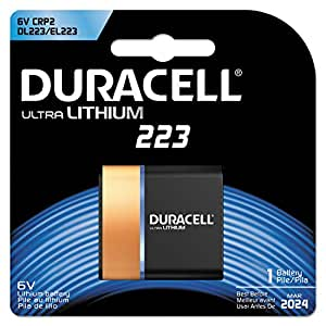 DURACELL DL223ABPK Battery,223,Lithium,6V