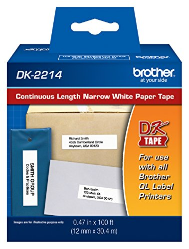 Brother Continuous Paper Tape (Brother DK-2214 Continuous Length Tap (100 Feet, 0.47