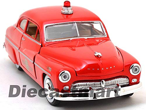 1949 Mercury Coupe FIRE Chief RED DIECAST Model CAR 1:24 76418
