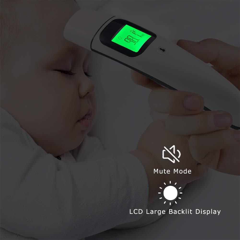 Enfant et Adulte,Alarme de Fi/èvre et Affichage R/étro-/éclair/é LCD avec M/émoire de 35 donn/é Thermom/ètre Frontal et Oreille GLAMSVILL M/édical Thermometre Infrarouge Professionnel pour B/éb/é