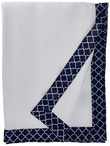 BreathableBaby Deluxe Modal Knit Baby Blanket - Navy Moroccan