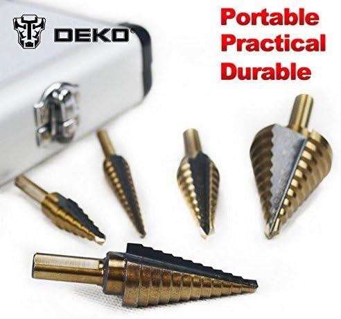 Step DrillBit Sharpener Unibit USA Cobalt M42 Reamer Brad Point 1//4 to 1-3//8 Hole Punch