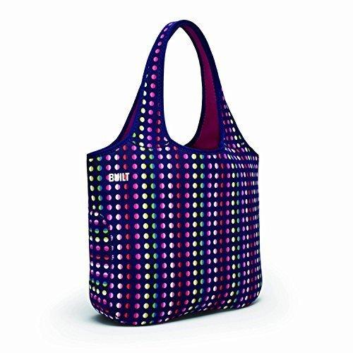 BUILT Essential Designer Neoprene Tote Bag, Dot Number 9