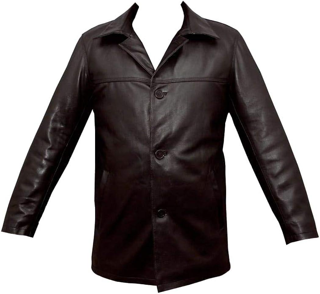 DENYL Mens 5 Button Car Coat