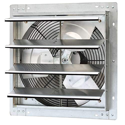 (Iliving ILG8SF16V Wall-Mounted Variable Speed Shutter Exhaust Fan, 16