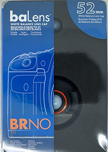 BRNO baLens BAL52 52mm White Balance Snap-on Lens Cap with Neutral and Warm Domes