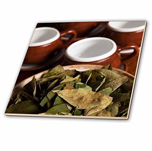3dRose ct_86965_2 Peru, Cuzco Coca Leaves and Tea Cups SA17 BJA0152 Jaynes Gallery Ceramic Tile, - Ceramic Cuzco