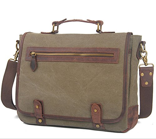 Bronze Times(TM) Leisure Canvas Messenger/Crossbody/Shoulder Bag(Coffee) by Bronze Times