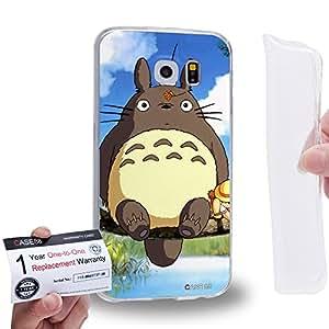 Case88 [Samsung Galaxy S6] Gel TPU Carcasa/Funda & Tarjeta de garantía - My Neighbor Totoro 0667