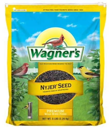 Wagner's 62051 Nyjer Seed Bird Food, 5-Pound Bag
