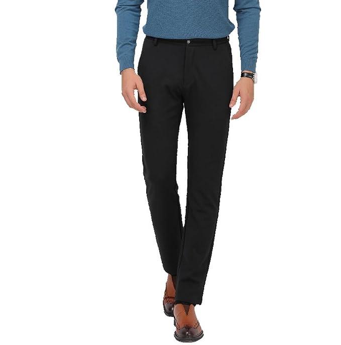 Zhiyuanan Uomo Pantaloni Classici da Smoking di Affari Slim